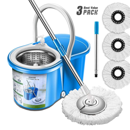 Aootek Stainless Steel 360 Spin Mop