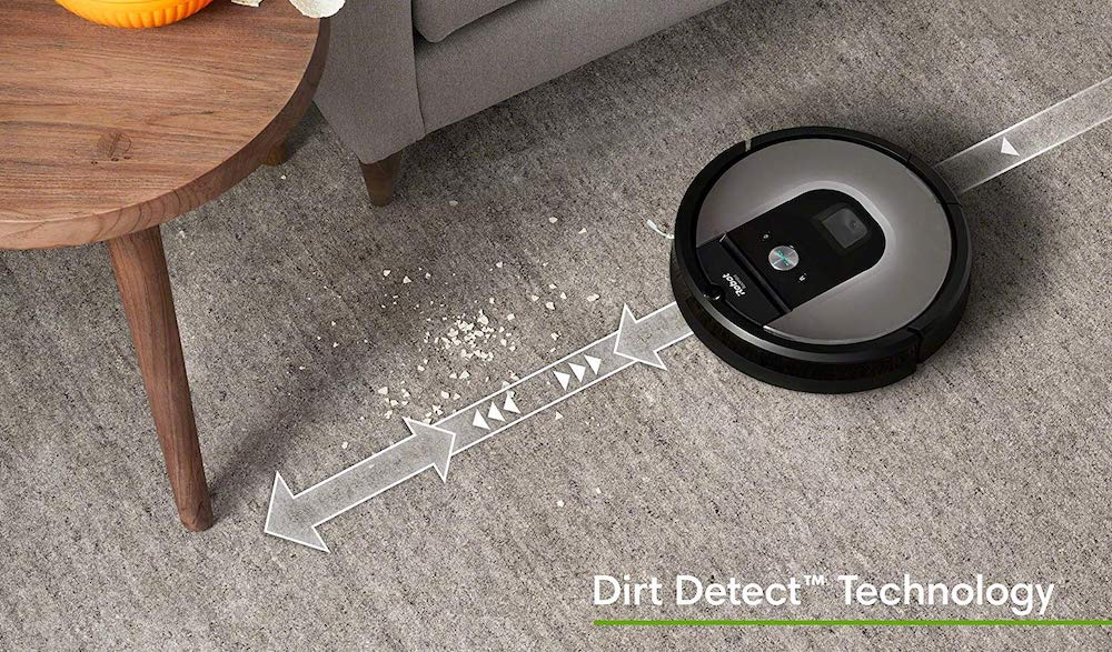 Dirt Detect Roomba 960