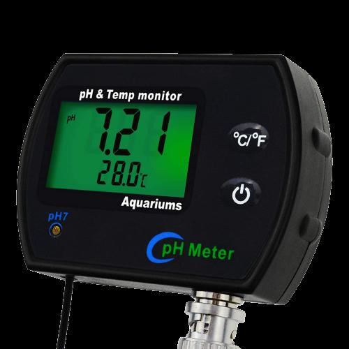 2 in 1 Digital pH Temperature Meter Monitor Tester