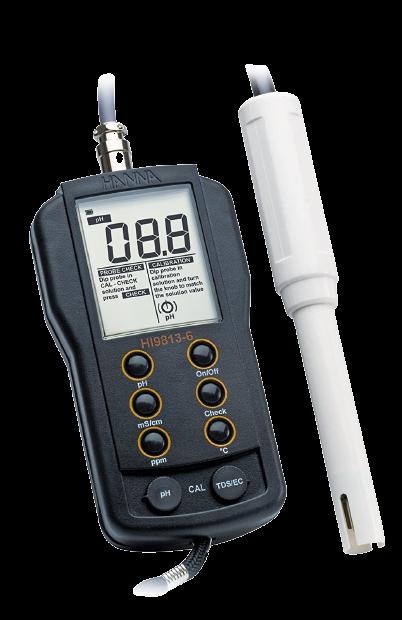 Hanna Instruments HI 9813-6N pH/TDS /EC Meter